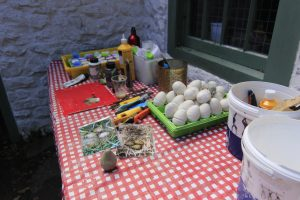 arts activity - making curlew eggs