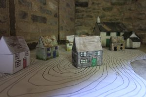 arts activity - squatters cottages made by children