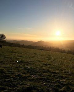 Shropshire sunset ¦Shropshire Hills ¦ Curlew Country ¦ British Farming