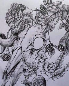 Wildlife inspired art from trainee Elspeth